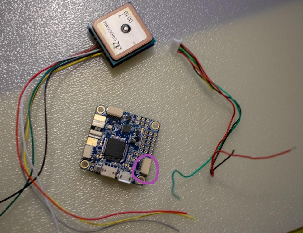 Подключение GPS модуля и компаса на полетный контроллер Omnibus F4 Pro V3